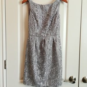 Aidan Mattox Dress Sleeveless Lace Open Back Mini